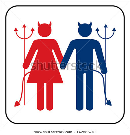 stock-vector-male-and-female-devil-sign-vector-142886761